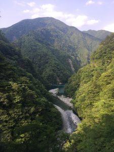 寸又峡・夢の吊り橋の景色
